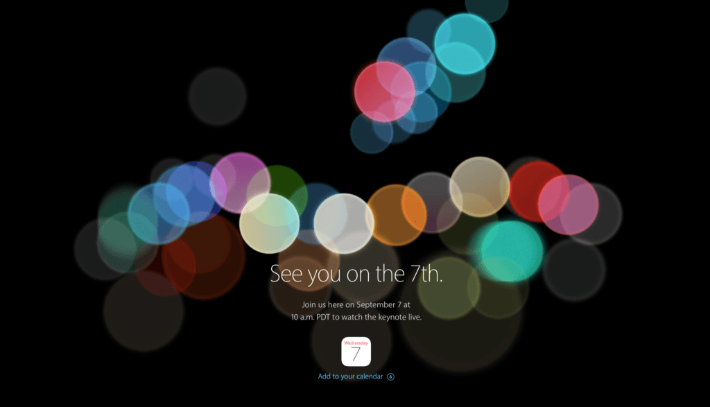 Apple Keynote 7september